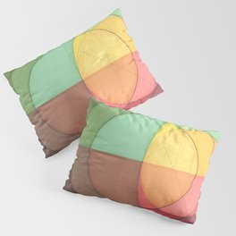 Concentric Circles Forming Equal Areas Pillow Sham