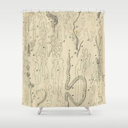 Microscopic Biology Shower Curtain