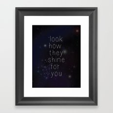 Look how they shine Framed Art Print