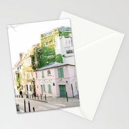 Pink Café in Paris, France | The Pink House in Montmartre, Paris, France | La Maison Rose Stationery Cards