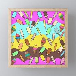 Ice Cream Treats Framed Mini Art Print