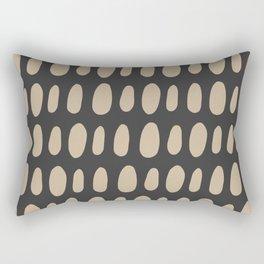 Brush Strokes Gold Rectangular Pillow