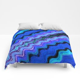 Blue Tranquil Waves Comforters