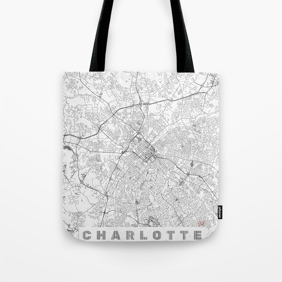 Charlotte Map Line Tote Bag