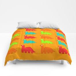 Cute Dino Pattern Walking Dinosaurs Comforters