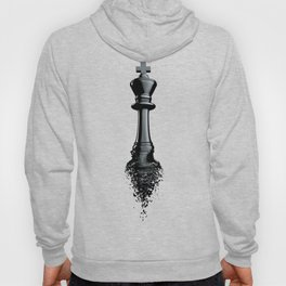 Farewell to the King / 3D render of chess king breaking apart Hoody