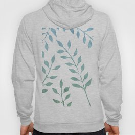 Blue and Green Fronds Hoody
