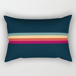 Retro Stripes Thunderbird Rectangular Pillow