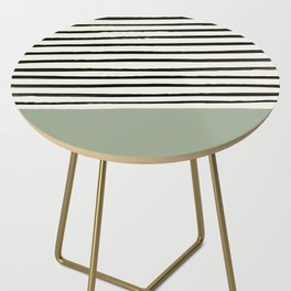 Sage Green x Stripes Side Table