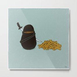 Potato Ninja Metal Print