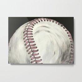 Vintage Baseball Art Metal Print