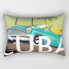 Cuba vintage travel poster print Rectangular Pillow