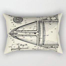 Submarine Torpedo Boat 06-1910 Rectangular Pillow