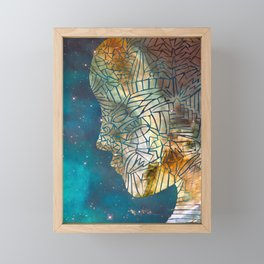 Fragmented Head Framed Mini Art Print