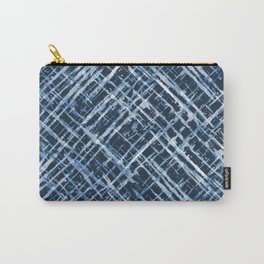 Criss Cross Watercolor Stripes Carry-All Pouch