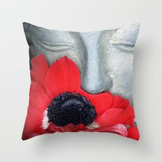 Anemone Buddha Throw Pillow