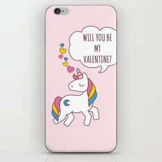 Valentine's Day - Unicorn Be my Valentine iPhone & iPod Skin