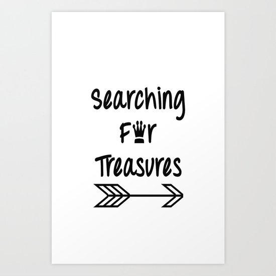 Searching For Treasures Art Print