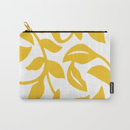 PALM LEAF VINE LEAF YELLOW PATTERN Carry-All Pouch