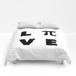 Love Pi Comforters