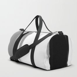 Soft Determination Black & White Duffle Bag