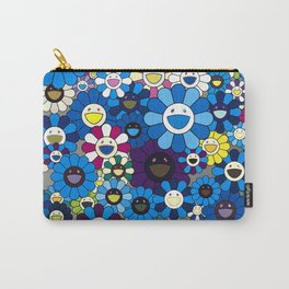mukarami flowers blue thema Carry-All Pouch