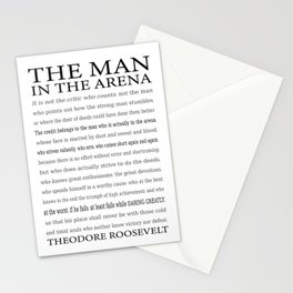 The Man in the Arena, Daring Greatly Quote by Theodore Roosevelt Stationery Cards