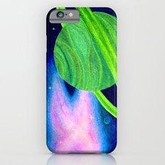 Green Planet, Pink Nebula iPhone 6s Slim Case