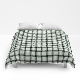 Small Pastel Green Weave Comforters
