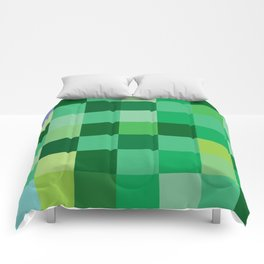 Squares of Luck Comforters
