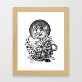 Satan cat Framed Art Print