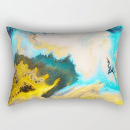 Sandstone washed by Waves on Vancouver Island Rectangular Pillow