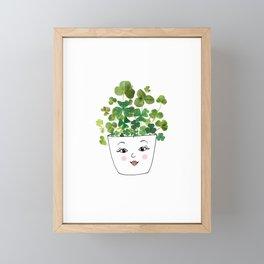 Shamrock Face Vase Framed Mini Art Print