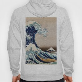 Under the Great Wave by Hokusai Hoody