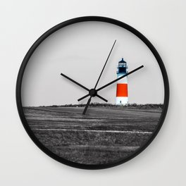 Sanity Head Lighthouse, Nantucket Wall Clock