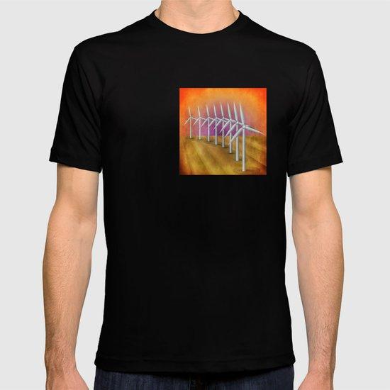 Windfarm at sunset T-shirt