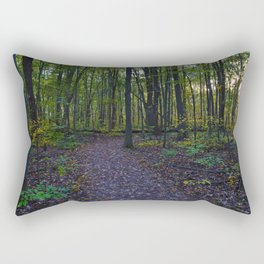 Boardwalk through the forest in southern Ontario, CA Rectangular Pillow