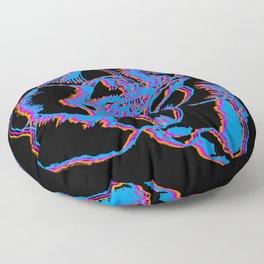 Glitch gardenia - primaries (black) Floor Pillow