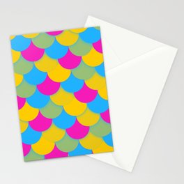 Pansexual Pride Scalloped Scales Pattern Stationery Cards
