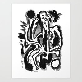 Midnight - b&w Art Print