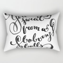 You Sweat from a Baboon's Balls - Coming to America Rectangular Pillow