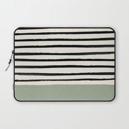 Sage Green x Stripes Laptop Sleeve