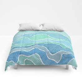 water, ripples and currents Comforters