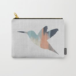 Pastel Hummingbird Carry-All Pouch