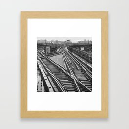 Railroad Tracks Queens New York Framed Art Print