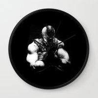 bane Wall Clocks featuring Bane by NickHarriganArtwork