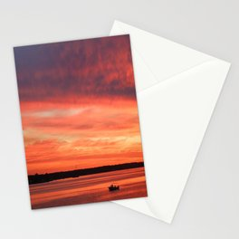 Crab boat, Patuxent River sunrise | St. Marys, MD Stationery Cards