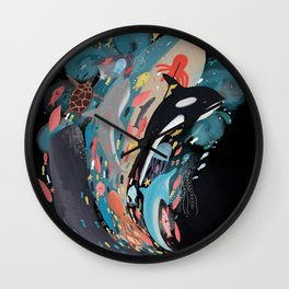 the ocean of my mind Wall Clock