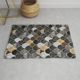 REALLY MERMAID BLACK GOLD Rug