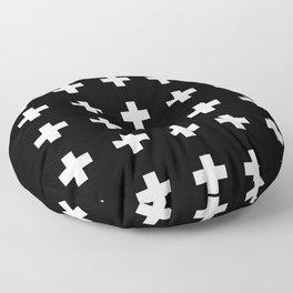Swiss Cross Black Floor Pillow